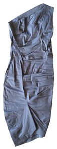 Malloni short dress Grey Italian on Tradesy