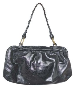 Hobo International Leather V Hinge Handbag Satchel in Black