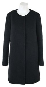 Mossimo Dutti Black Wool Top Solid Coat