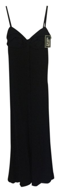 Item - Black Couture Strawberry Fields Long Night Out Dress Size 8 (M)