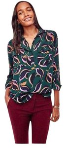 Ann Taylor Abstract Shirt Tulip Silhouette Top