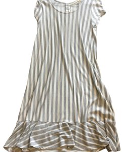 grey and cream striped Maxi Dress by Anthropologie