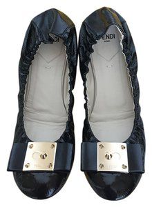 Fendi Bow Ballet Black Flats