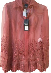 Gianfranco Ferre Top Orangy burgundy