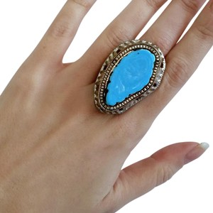 Other Large Raw Turquoise Costume Ring