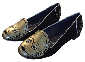 Other Black, Gold Flats