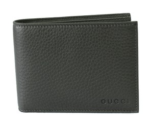 Gucci GUCCI 278596 Men's Leather Bifold Wallet, Grey Sky