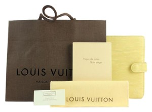 Louis Vuitton ( NEW INSERTS ) Vanilla Epi Leather Agenda PM 75LVA13117