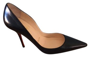 Christian Louboutin Louboutin Becoltissimo 100mm Sexy Nappa Leather Black Pumps