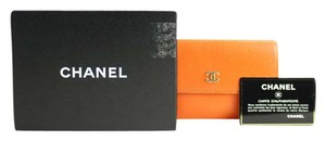 Chanel Orange Flap Wallet 213839