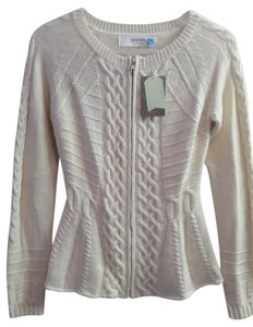 Anthropologie Fisherman Cable Jacket Zip Sweater