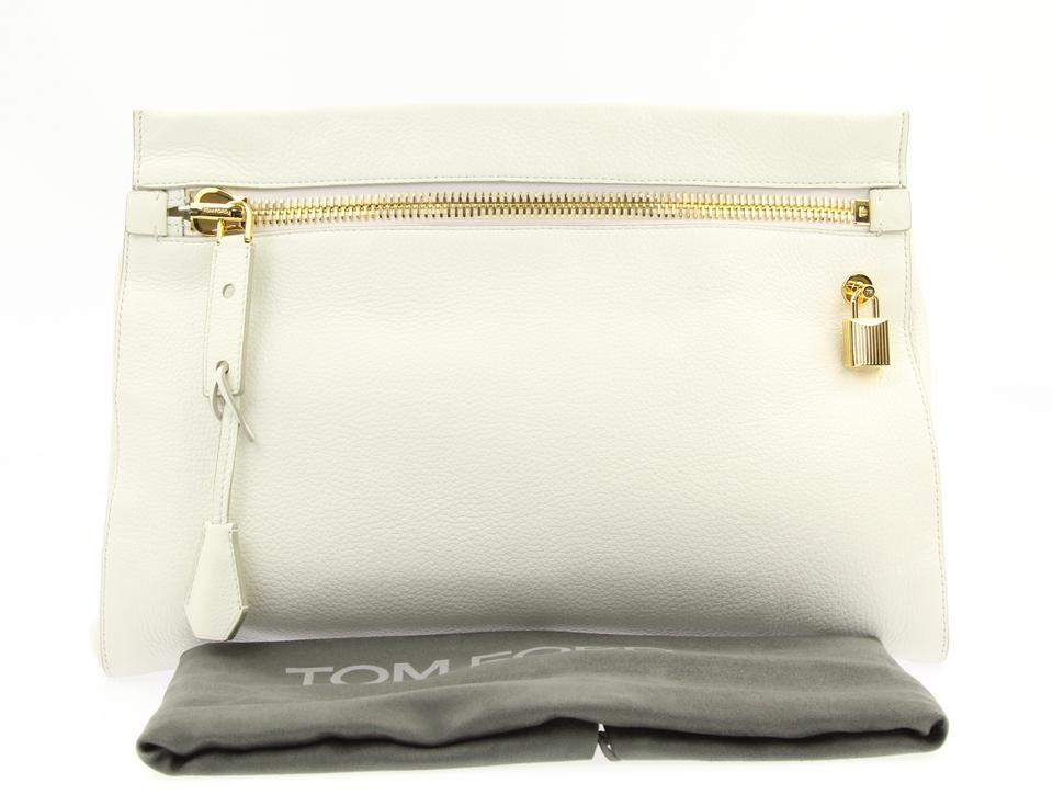 Tom Ford Alix Small Chalk Leather Clutch - Tradesy 9162554c8f5c5