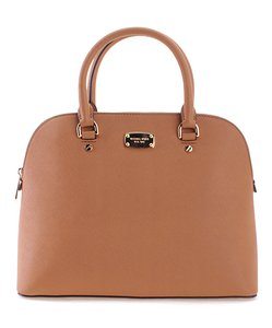 Michael Kors Saffiano Leather Large Dome Cindy Satchel in ACORN