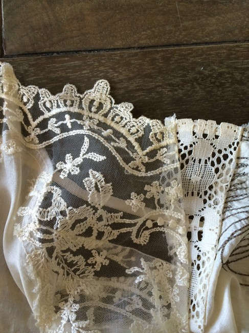 TRELISE COOPER Lace Embroidered Top Ivory