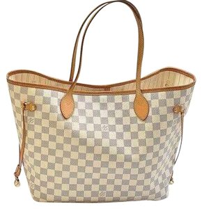 Louis Vuitton Neverfull Azur Damier Mm Tote in Damier Azur