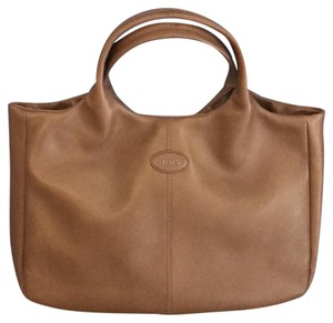 Tod's Leather Satchel in Chestnut