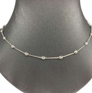 Other 18k White Gold Diamond Cut Bead by the Yard Chain 16 inches