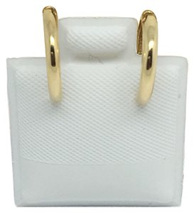 Other 10K Yellow Gold Plain Huggie Hoop Earrings