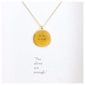 Other DF15 Gold You Alone Are Enough Necklace & Card