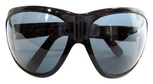 Prada Black Wrap Around Frame Sunglasses Black Lens Style SPR 03F