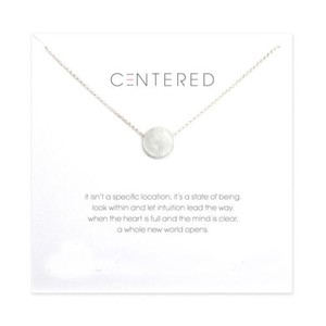 Other DF15 Silver Dainty Centered Circle Necklace & Card