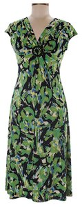 Evan Picone short dress green yellow on Tradesy