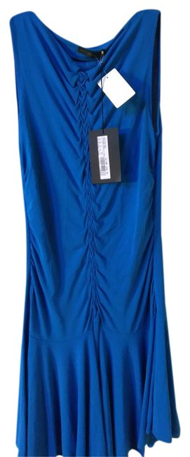 Item - Cobalt Blue New Made In Italy Mid-length Cocktail Dress Size 10 (M)