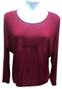 Ya Los Angeles Studded Longsleeve Top Red