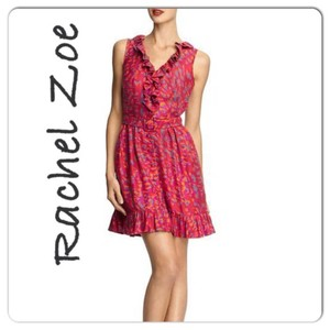 Rachel Zoe short dress red grey on Tradesy
