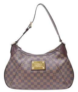 Louis Vuitton Thames Gm Hobos Damier Leather Shoulder Bag