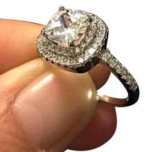 Other 18KT WGF cubic zirconia engagement ring
