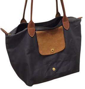 fde34024762d Added to Shopping Bag. Longchamp Tote in Graphite. Longchamp Le Pliage  Graphite Canvas Tote