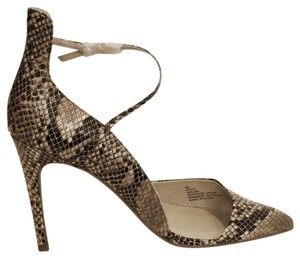 MIA Brown snakeskin Pumps