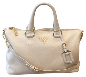 Prada Satchel in Talco (off-white/cream)