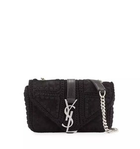 Saint Laurent Monogram Kate Cassandre Crossbody Shoulder Bag