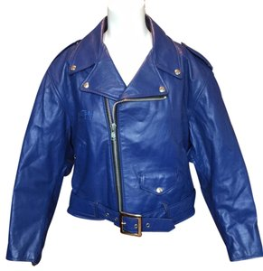 Schott NYC Indigo Leather Jacket