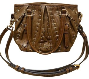 Burberry Lowry Tote Metal Hardware Stitch Shoulder Bag