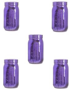 14 Purple Mercury Glass Canning Jars - Quart