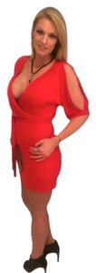 Jessica Simpson short dress Red on Tradesy