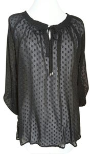 Liz Claiborne Sheer Polka Dot Detail 2 Pieces Camisole Included Tunic