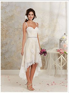 Alfred Angelo Hi-low Modern Vintage Bridal Gown Wedding Dress