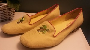 Pappagallo Fabric Loafers Casual Yellow Flats