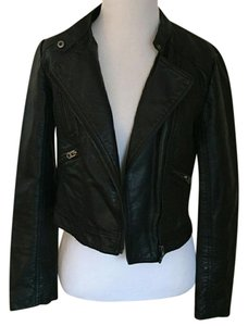 Forever 21 Leather Crop Top Motorcycle Jacket
