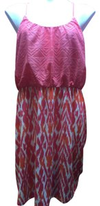 Maurices short dress Pink/Orange Summer Lace on Tradesy