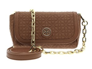 Tory Burch Brown Messenger Chain Strap Cross Body Bag