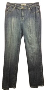 Chico's Platinum Radiant Light Wash Straight Leg Jeans-Light Wash
