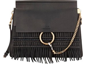 Chloé Faye Fringe Faye Shoulder Bag