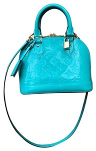 Louis Vuitton Alma Vernis Satchel in Turquoise