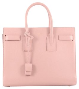 Saint Laurent Leather Tote in Pale Pink