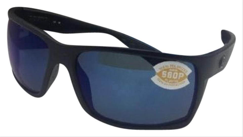 7eebb33c1d Costa Del Mar Polarized COSTA Sunglasses REEFTON RFT 01 Blackout Frame w  Blue Mirror Image ...